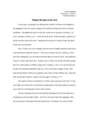 things fall apart essay test kelsie kunihisa world literature i things fall apart essay test kelsie kunihisa world literature i things fall apart essay test in my essay i am going to be talking about achebes
