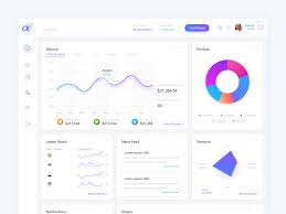 Web Dashboard Ui Design Financial Investing Web App Dashboard Ui Design By Rikon