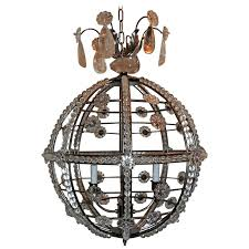 modern transitional brushed nickel sputnik rock crystal globe chandelier fixture for