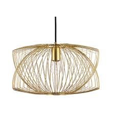 nuevo lighting helio pendant light in matte gold  hgmo