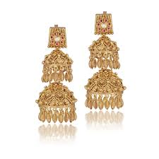 Gold Jhumka Designs For Bridal Bridal Gold Earrings Jhumka Design Easy Crafts Jewelry