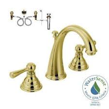 widespread 2 handle high arc bathroom faucet trim kit with