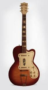 your grandpa s guitar 1950 s kay k161 thin twin electric guitar never before have i seen the silvertone type headstock on a kay branded instrument the one i have is the only one i have ever seen