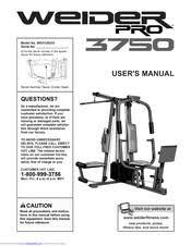 Weider Pro 3750 User Manual Pdf Download