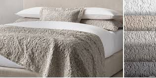 Quilts & Coverlets | RH & Botanical Matelasse Washed Cotton-Linen Coverlet & Sham Free Shipping Adamdwight.com