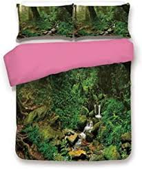 Amazon.com: Landscape 3D Duvet Cover Set Rainforest Trees and Fresh Grass  in Nepal Jungle Wildlife Nature Tropical Photo Microfiber 3 Piece Bedding  Set Twin,Best Gift For Valentines'Day Birthday Green Brown: Home &