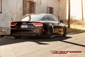 audi a7 2014 custom. ferrada fr4 matte black w gloss lip on 2014 audi a7 wspecs custom e