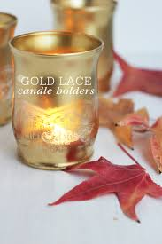 Diy Gold Candle Holders Gold Lace Candle Holders