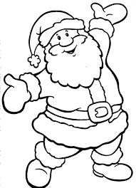 Small Picture Draw Santa Coloring Pages 31 For Line Drawings with Santa Coloring