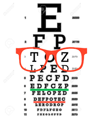 Eye Vision Test Poor Eyesight Myopia Diagnostic On Snellen Eye