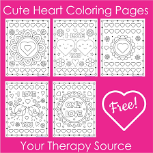 Free printable coloring pages and connect the dot pages for kids. Cute Heart Coloring Pages 5 Free Printables Your Therapy Source