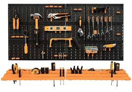 wall mounted garage shed tool rack
