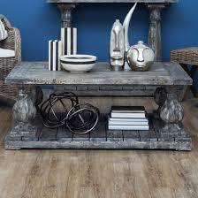 lovito wooden pillars coffee table in