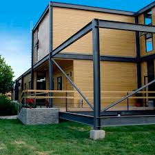 Steel Framed Houses Yardpods Are Pre Fabricated Steel Frame Backyard Rooms Image On