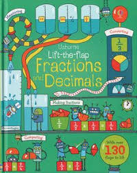 usborne books more lift the flap fractions and decimals ir