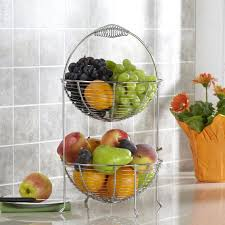 ksp circ 2 tier fruit vegetable basket chromewire