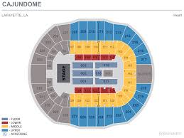 Cajundome Concert Seating Chart Heart Cajundome