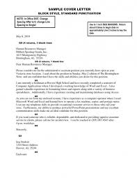 Gallery Of Basic Cover Letters For Resumes