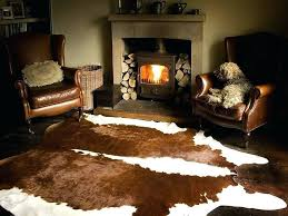animal hide rugs getting wine out of cow skin rug decor nz