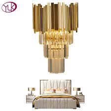 youlaike gold modern wall sconce light crystal wall luxury creative warm hallway bedroom bedside lamp