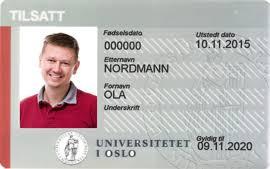Employee Id Card For Employees University Of Oslo