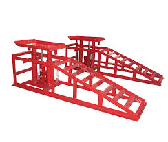 sentinel foxhunter vehicle car ramp lift 2 ton hydraulic jack garage heavy duty red x 2