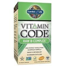 garden of life b vitamin vitamin code raw b complex whole food supplement vegan 60 capsules