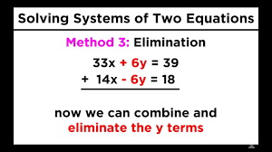 solving systems of two equations and two unknowns graphing substitution and elimination