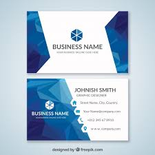 Blue Business Card Vector Free Download
