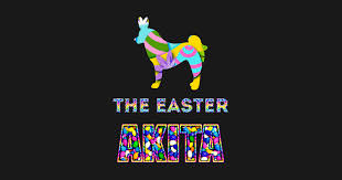 akita gifts easter gifts easter decorations easter bunny spring decor tapestry