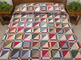 Homespun Squares Quilt -- superb skillfully made Amish Quilts from ... & Homespun Squares Quilt -- superb skillfully made Amish Quilts from  Lancaster (hs6303) Adamdwight.com