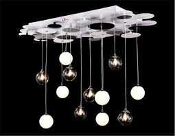 modern glass bubble pendant lamp hanging ceiling light chandelier fixture art