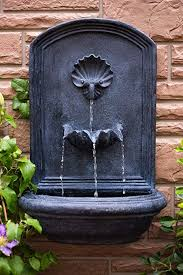 surprising design wall fountains outdoor com the napoli fountain slate grey water feature for garden patio clearance diy uk