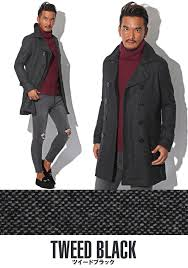 p coat pea coat men long trench coat double long coat melton wool outer
