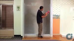 Shower Door kohler levity shower door installation photos : Frameless Shower Door Install - Inline Panel / Configuration ...