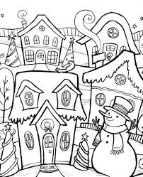 Small Picture Winter Coloring Scene Of Chirstmas Winter Coloring Pages Scene