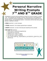 8th Grade Essay Prompts 6 8th Gr Personal Narrative Writing Prompts Staar And Cc