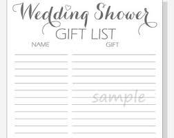 Printable Bridal Shower Gift List Template Bridal Shower Guest List Template Bilir Opencertificates Co