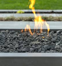 gas fireplace glass stones modern fire pit lava rock outdoor gas fireplace with glass pebbles