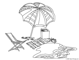 Small Picture Coloring Pages Of A Beach Umbrella Coloring Home