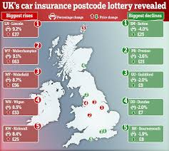 car insurance postcode lottery the cost of cover in the last three months of 2017