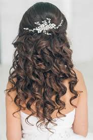 curly hair down prom hairstyle back view