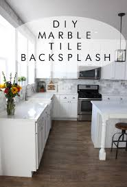 Diy Kitchen Tile Backsplash My Diy Marble Backsplash Honeybear Lane