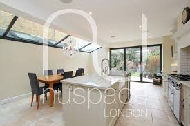 Extension Kitchen Side Return Kitchen Extension With Sloping Glass Roof In Fulham
