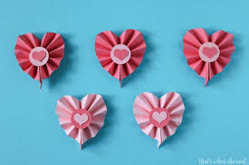 Paper Rosette Flower Paper Rosette Hearts Using The Cricut Hey Lets Make Stuff