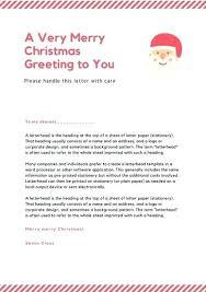 Christmas Letterhead Template Red Lines Letter Letterhead Christmas Stationery Template Free