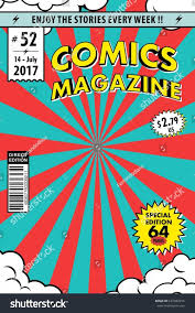 ic book cover template magazine vector ilration