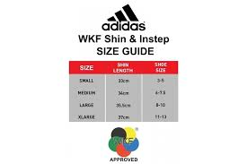 Adidas Shin Guard Size Chart Adidas Wkf Shin And Removable Instep Pads Red