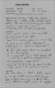 Example Of Field Notes From An Initial Set Of Interviews