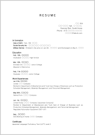 Part Time Job Resume Template High School Student Examples How To